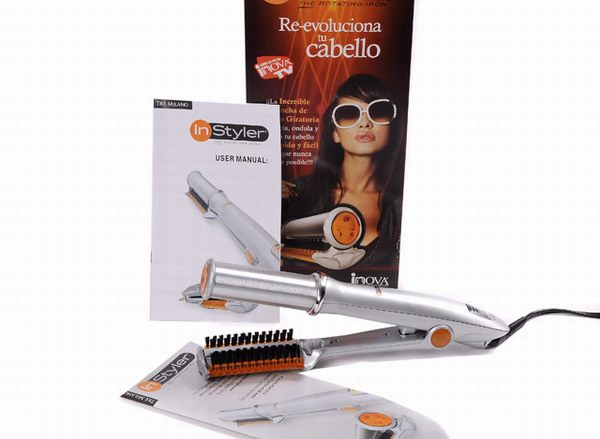 Two Instyler Australia Rotating Irons Silver