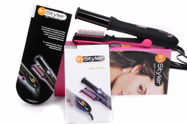 Two Instyler Australia Rotating Irons Black